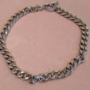 Guess silver choker necklace